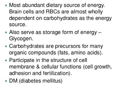 Carbohydrates and Diabetic